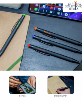 Metal pen with color engraved